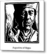 St. Augustine - Jlaug Metal Print