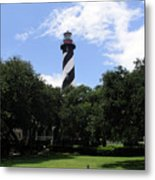 St. Augustine Light In Florida Metal Print