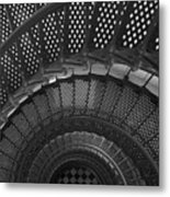St. Augustine Lighthouse Spiral Staircase I Metal Print