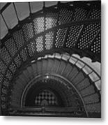 St. Augustine Lighthouse Spiral Staircase II Metal Print