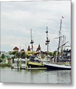 St Augustine Marina From The Water Metal Print