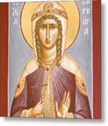 St Barbara Metal Print by Julia Bridget Hayes