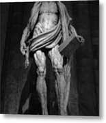 St. Bartholomew In Milan Cathedral By Marco D'agrate In Black And White Metal Print