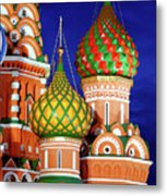St Basils Cathedral In Moscow Russia Metal Print