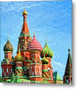 St. Basil's Cathedral Moscow Metal Print