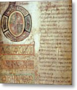 St. Bede, Manuscript Metal Print