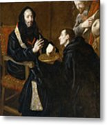 St Benedict Blesses The Bread Metal Print