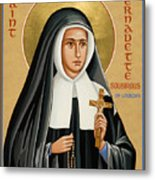 St. Bernadette Of Lourdes - Jcbsl Metal Print
