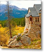 St. Catherine's Church In Autumn Metal Print