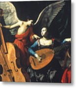 St. Cecilia And The Angel Metal Print