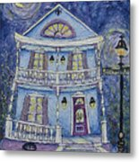 St. Charles Blue House Metal Print