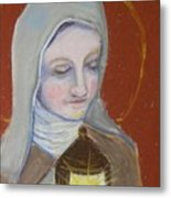 St. Clare Of Assisi II Metal Print by Susan  Clark