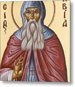 St David Of Evia Metal Print by Julia Bridget Hayes