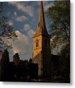 St Davids Church At Sundown Metal Print