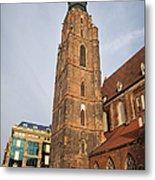 St. Elizabeth's Church Tower In Wroclaw Metal Print