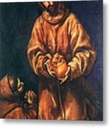 St Francis And Brother Rufus 1606 Metal Print