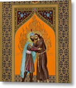 St. Francis And The Sultan - Rlsul Metal Print