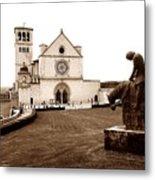 St. Francis Basilica, Assisi  Metal Print