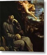 St Francis Consoled Metal Print