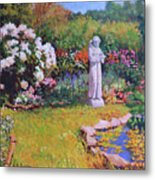 St. Francis In The Garden Metal Print