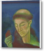 St. Francis Of Assisi And The Bird Metal Print