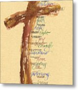 St Francis Peace Prayer  Metal Print by Judy Dodds
