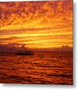 St. George Island Sunset Metal Print