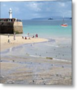 St. Ives, Harbour Beach Metal Print