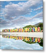 St James Beach Huts South Africa Metal Print