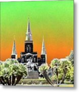 St. James Cathedral New Orleans Metal Print