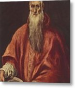 St Jerome As Cardinal Metal Print
