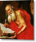St. Jerome In The Wilderness Metal Print