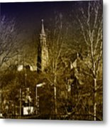 St. John The Baptist From The Rail Road Trestle In Manayunk Metal Print