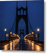 St Johns Bridge Shine Metal Print