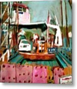 St Johns River Ferry Metal Print