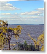 St. Johns River Meets The Ocean Metal Print