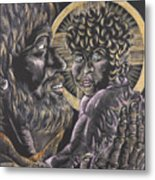 St. Joseph And The Child Jesus Metal Print