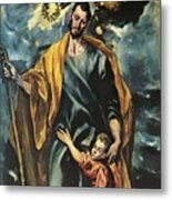 St Joseph And The Christ Child 1599 Metal Print