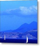 St Kitts Sailboats Metal Print by Thomas R Fletcher