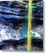 St. Louis Canyon Liquid Gold Metal Print