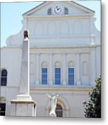 St. Louis Cathedral Back Lawn Metal Print