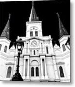 St. Louis Cathedral Drama In New Orleans Metal Print