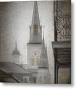 St. Louis Cathedral From Chartres St. - Nola Metal Print