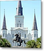 St. Louis Cathedral From Jackson Square Metal Print
