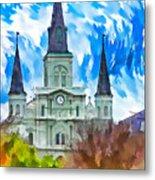 St. Louis Cathedral - Paint Metal Print