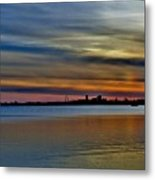 St Louis Sunset Metal Print