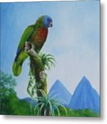 St. Lucia Parrot And Pitons Metal Print
