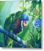 St. Lucia Parrot And Wild Passionfruit Metal Print