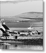 St. Margarets Hope, Orkney.    Black And White Metal Print