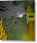 St. Marks In Venice With Moon And Venus Metal Print